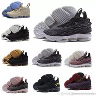 Wholesale black zipper shoes - 2018 New Arrival men XV lebron 15 EQUALITY Black White Basketball Shoes EP Sports Training Sneakers eur 40-46