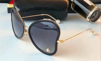Wholesale Pink Heart Shaped Sunglasses - 2018new fashion designer sunglasses heart-shaped frame with pearl reflective lens simple style uv 400 outdoor protection eyewear