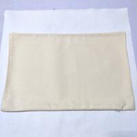 ingrosso cuscino beige-fodera per cuscino in twill di cotone naturale beige chiaro fodera per cuscino in twill di cotone con cerniera nascosta 11 * 17 in omaggio da DHL