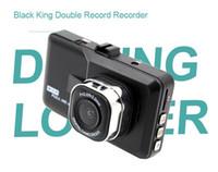 Wholesale King G - Black King Doubel Record Recorder 3.0inch CAR DVR FULL HD 1080P Car Reversing Camera 145 Degree Angle G-sensor Night Vision Video 10PC LOT
