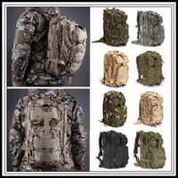 Wholesale tactical rucksacks - 12 Colors 30L Hiking Camping Bag Military Tactical Trekking Rucksack Backpack Camouflage Molle Rucksacks Attack Outdoor Bags CCA9054 30pcs