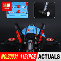 Wholesale toy jets - LEPIN 20031 1151pcs Technic Series The jet racing aircraft Model Building Kits Brick Toy Compatible 42066 Gifts