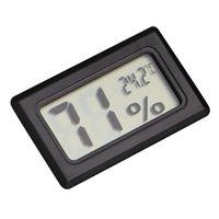 мини-термометр-гигрометр оптовых-Mini Black Digital LCD Temperature Humidity Indoor Room Humidity Meter Thermometer Hygrometer Temperature Sensor
