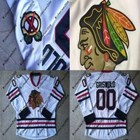 Wholesale Christmas Hockey - Men Clark Griswold Jersey #00 Christmas Vacation Chicago Blackhawks Movie Hockey Jersey All Stiched Free Shipping
