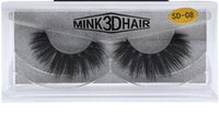 Wholesale Real Natural Hair Feathers - High quality 3D Mink lashes thick real mink hair false eyelashes natural for Beauty Makeup Extension fake eyelashes free shipping
