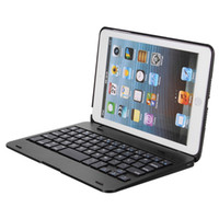 Wholesale foldable keyboard ipad - 2in1 Bluetooth 3.0 Wireless Keyboard Foldable Case Stand Cover Holder for iPad Mini 1 2 3 New For iPad Mini Case Keyboard Cover