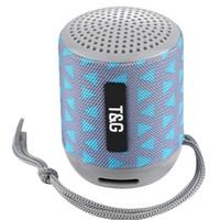Wholesale powerful bluetooth mini speaker - TG129 MINI portable wireless bluetooth speaker powerful audio mp3 audio player TF USB FM sound box 60PCS LOT