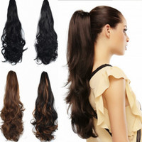 """Wholesale Girls Hair Extension Clips - Sara Ladies & Girls Claw Jaw Kinky Curly Ponytails Clip in Similar Human Ponytail Hair Extension Horsetail Pony Tail Hairpiece 55CM,22"""""""