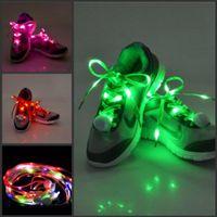 online shopping Led Luminous Shoes - 1000Pcs LED Nylon Lamp beads Flashing Shoe Lace Fiber Optic Shoelace Luminous Shoe Laces Light Up Flash Glowing Shoeslace