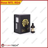 elektronischer zigarettenzerstäuber 3.5ml großhandel-Original Fumytech Rose mtl RTA gold farbe 24mm 3,5 ml elektronische zigarette zerstäuber tank mit POM Tropfspitze für 510 gewinde vape