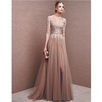 ruched pink mother bride dress NZ - 2018 New Dress For Champagne Formal Mother of the Bride Lace Dress Pant Suits Groom Dresses Gowns for Weddings with Sleeves