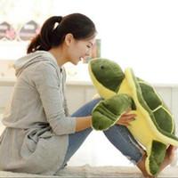 Wholesale cute turtle plush - 40cm Plush Tortoise Toy Cute Turtle Plush Pillow Stuffed Turtle Pillow Cushion For Girls Gift Kids Toys LA021