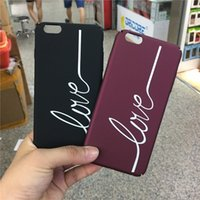 Wholesale telephone cases - Telephone accessories LOVE printed Phone Case capa coque fundas cover Hard capinha celular For iphone 6 6s 6Plus 6splus 7 7Plus 8 8plus
