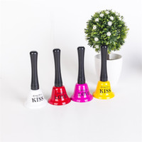 Wholesale party accessory for sale online - Popular Colorful Hand Bells Electroplate Metal Table Bell For Bar Restaurant Christmas Party Accessories Hot Sale aq CB
