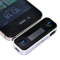 Wholesale Mp3 Top - Top Wireless Car FM Transmitter Modulator Car Mp3 Player LCD Display 3.5mm Wire For iPhone 4 5 6 iPod Smartphones+Free Shipping