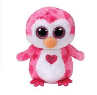Wholesale valentines stuffed animals online - Ty Beanie Boos quot cm Valentines Juliet the Pink Penguin Plush Regular Soft Big eyed Stuffed Animal Collection Doll Toy