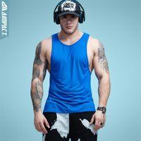 Wholesale low cut tanks xl - Aimpact Mens Workout Tank Tops Fitness Bodybuilding Clothing Low Cut Armholes Vivid Vest Muscle Singlets Men Activewear Ad54