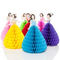 Wholesale invitation dresses - Family Party 3D Princess Gift Paper Invitation Cards for DIY Scrapbooking Card 3D Princess TUTU Dress Home Decoration