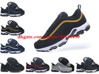 Wholesale plus size fashion tops - 2018 Hot Sale Air Cushion Plus Tn 97 Men Running shoes for Top quality Fashion Drop Plastic tn requin pas cher Chaussures Vapormax Size 46