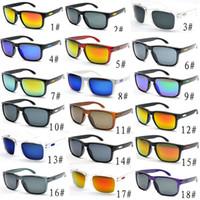 солнцезащитные очки desinger оптовых-Горячие продажи дешевые солнцезащитные очки для мужчин спорт велоспорт Desinger солнцезащитные очки dazzle цвет зеркала очки 18 цветов бесплатная доставка