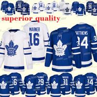 kadri jersey al por mayor-Camisetas de los Toronto Maple Leafs 91 John Tavares 34 Auston Matthews 16 Mitch Marner 43 Nazem Kadri 18/19 nueva camiseta