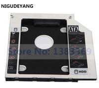 disco duro lenovo thinkpad al por mayor-Adaptador NIGUDEYANG SATA 2nd 2.5 Hard Drive SSD HDD Caddy para Lenovo ThinkPad E550 E555 E560
