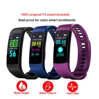 Wholesale android bluetooth app - Bluetooth Smart Bracelet Y5 Smart Wirstband Color Display Call SMS App Push Fitness Tracker Health Tracker Smart Band