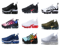 Wholesale tn max running shoe for sale - Group buy with box Triple Black CARGO KHAKI SUNSET TRIPLE WHITE PHOTO BLUE TN Maxes Plus Ultra Olive In Meallic Running Shoes Drop shipping