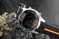 Wholesale Green Electronic Products - 2018 new product explosion double treasure adult men's electronic Harajuku wind watch quartz movement sports watch