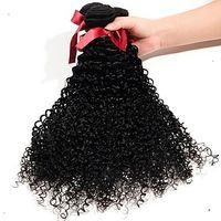cabelo curvado brasileiro não processado 6a venda por atacado-Rápido trânsito Brasileiro Cor Pura Kinky Curly Hair Weave 6a Não Transformados Extensões de Cabelo de Trama Dupla 100% Cabelo Humano Weave