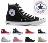zapatos de correr para mujer al por mayor-2018 nuevo Lor All Star diseñador zapatos de skate en lona para hombre para mujer High Top Classic Skate Casual zapatilla de deporte tamaño 35-44