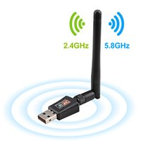 Wholesale usb dongle receiver for sale - 600Mbps USB Antenna Wifi Dongle Receiver Dual Band Ghz Ghz USB wifi adapter for Windows Mac PC