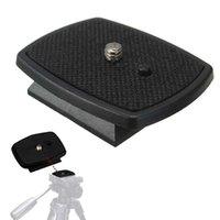 ingrosso piastra di sgancio rapido per treppiede-Treppiede Piastra a sgancio rapido Vite Adattatore Testa per fotocamera digitale DSLR SLR di buona qualità nuova