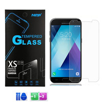 ingrosso zte avid-Per LG Q7 + Aristo 2 Zte Blade Force Avid 4 Alcatel 7 vetro temperato 9H Clear Screen Protector con pacchetto di carta