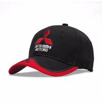 0a0b8634125 New 3D Logo Mitsubishi Hat Car Caps Motogp Moto Racing F1 Baseball Cap Men  Women Adjustable Casual Trucker Hat Wholesale Retail