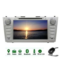 Wholesale rear dvd toyota online - Backup Camera Quad Core Android Car DVD Player touchscreen Double Din In Dash GPS Navigation Stereo Bluetooth Headunit WiFi p