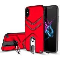 fälle für sumsung groihandel-Multifunktions-Fall-Mode-stoßsichere Abdeckung neuester Entwurf für iPhone X 8 7 6 6S Ständer-harte rückseitige Abdeckung für Sumsung S9 S8 plus S10 S10E