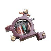 máquinas de tatuaje de cobre puro al por mayor-Máquina de tatuaje Sombreado Pistola 10 Envolturas Bobinas de cobre puro Aleación Marco 110Hz Shader Tattoo Gun WQ4147