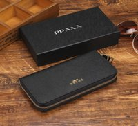Wholesale vintage boxed christmas cards online - Europe and the United States luxury brand wallets fashion long wallet designer wallet handbag wallet Multi color optional purse with box