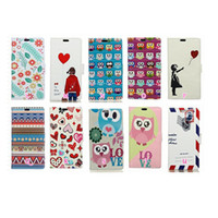 Wholesale chinese mail - For Sony XZ2,Compact For MOTO G6 Fashion Cartoon Wallet Leather Case Mail Heart Lover Owl Lover Jean Feather Flower Flip Covers PU Pouch