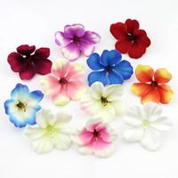 orkid kafaları toptan satış-200 adet / grup Bahar Ipek Orkide Yapay Çiçek Başkanları, Düğün Dekorasyon Için Glayöl Cymbidium Çiçekler