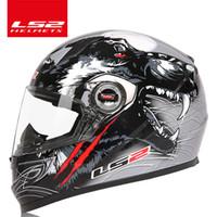 ingrosso ls2 caschi da corsa-LS2 global store LS2 FF358 casco integrale da moto casco da cross racing ECE Certificazione uomo donna casco moto casque