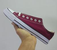marka tuval dantel ayakkabıları toptan satış-Marka yeni size35-46 All-star Unisex Düşük Üst Yüksek Top Yetişkin kadın erkek yıldız Kanvas Ayakkabılar 13 Renkler Bağcıklı Up Casual Ayakkabı ...