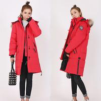 ingrosso vestiti di marca coreani che spedicono liberamente-Piumino Parker da donna di alta qualità Canada 90% contenuto Pelo d'oca caldo Cappotto esterno da donna