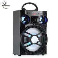 Wholesale big computer speakers - Redmaine 15W MS - 188BT Multi-functional Wireless Bluetooth Speaker Big Drive Unit Bass Colorful Backlight FM Radio Music Player