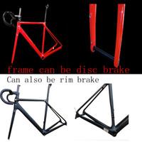 bisiklet aksları toptan satış-2018 CF SLX T1000 ÜST UD BB86 karbon bisiklet yol çerçeve bisiklet yarış bisiklet frameset yol AXle disk fren Farklı renkler yapmak