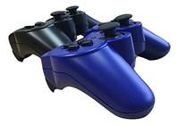 mavi kablosuz kumanda toptan satış-PS3 kablosuz bluetooth denetleyicisi için dosly oyun denetleyicisi (siyah ve mavi renk)