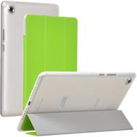 huawei tablet standı toptan satış-Üç Kat Çevirme Kitap Durumda TPU Kapak için Huawei Mediapad M5 8.4 SHT-AL09 SHT-W09 8.4 inç Tablet Kılıfları ile Standı