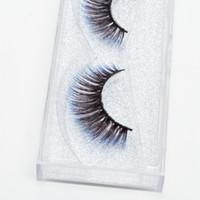 natürliche seide zum verkauf großhandel-Seashine Ausgezeichneter Verkauf Kunsthaar Direktverkauf der Fabrik 3d synthetische silk Wimpern der blauen Wimpern des natürlichen Blickes bunte Wimpern freies Verschiffen C11