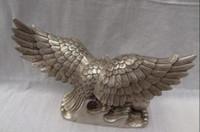 uçan şahinler toptan satış-Çin Gümüş Kuş Heykel Fu Uçan Kartal Hawk Bronz Kuşlar Kuş Heykeli